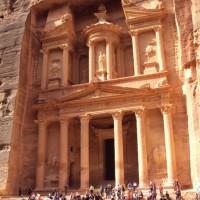 Treasury building in Petra, Jordan
