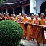 Thai Monks collecting Alms