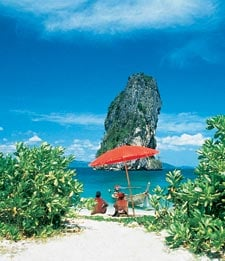 Just one of the many jaw-dropping beaches in Thailand