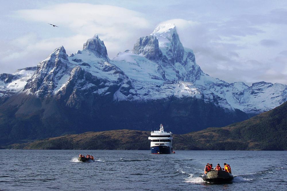 Via Australis Ship Sailing the Patagonia, Argentina