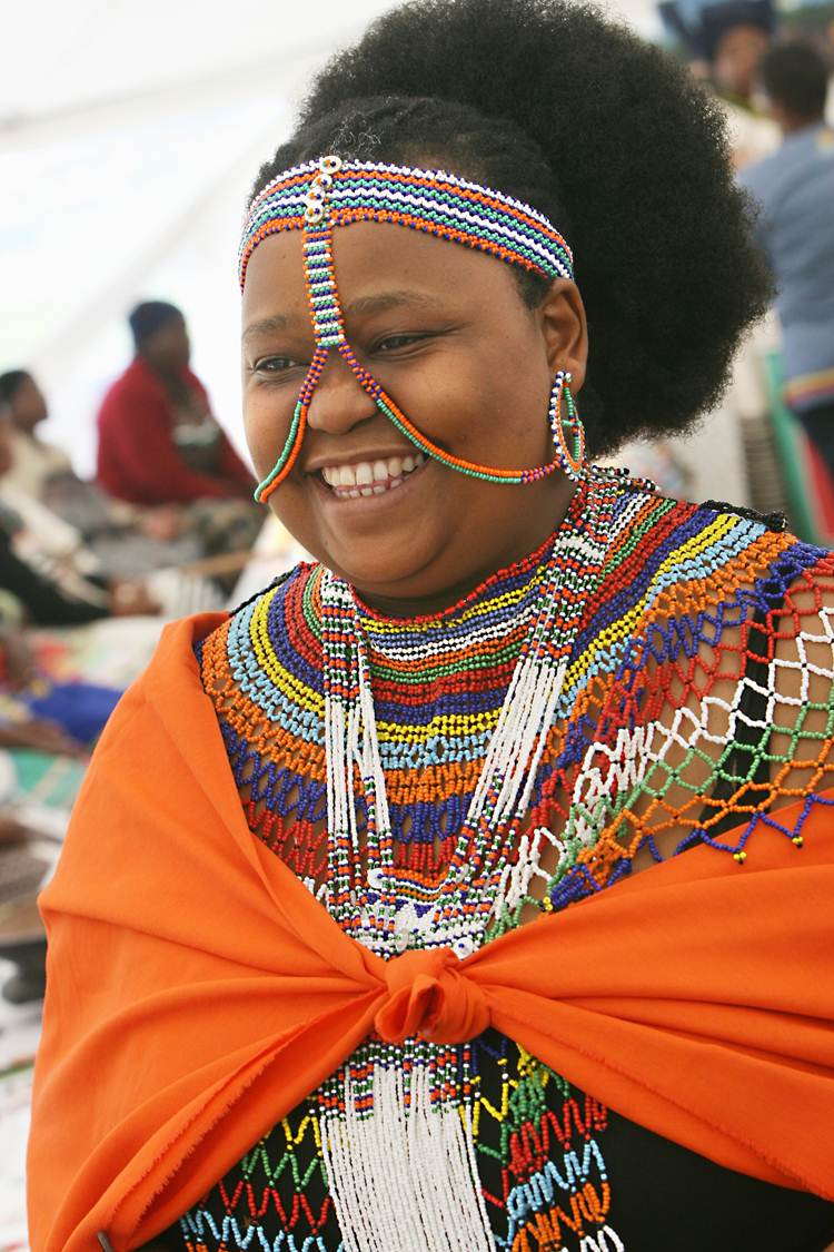 Xhosa Woman In Traditional Dress In The Eastern Cape Goway