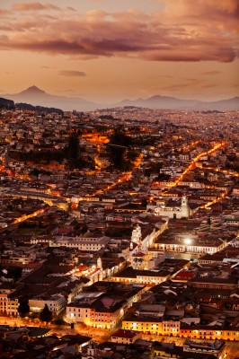 Quito at Night, Ecuador