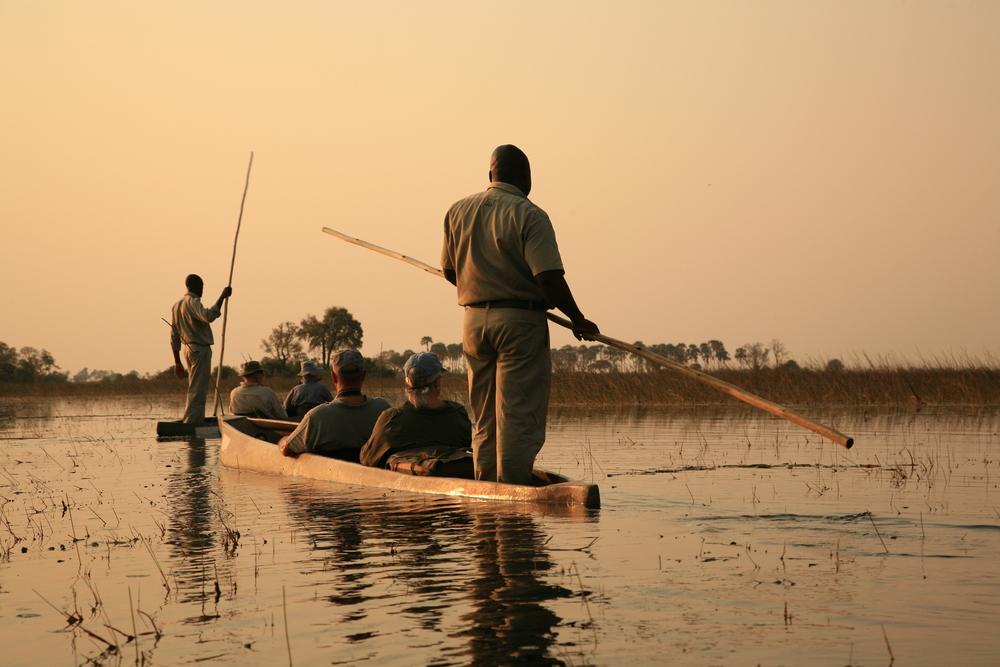 Mokoro along the Okavango Delta, Botswana