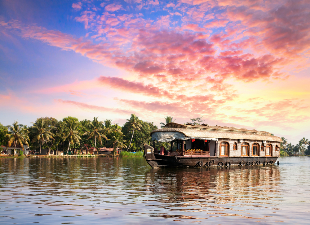 An overnight stay on a Keralan house boat is a distinctly Southern Indian travel experience