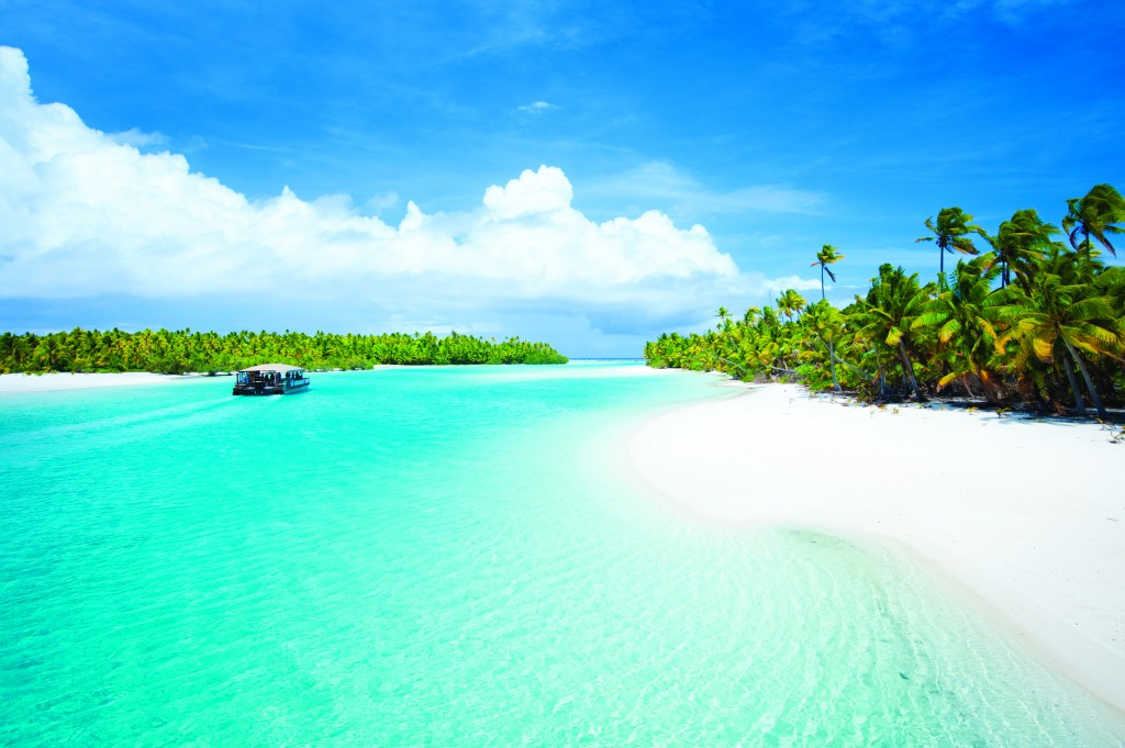 Aitutaki's lagoon is considered one of the finest beaches in the world