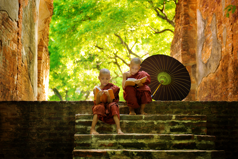 Young Bhutanese monks