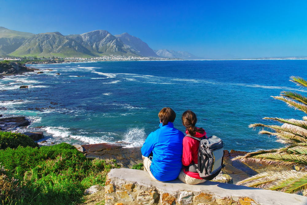 Looking for whales, Hermanus.