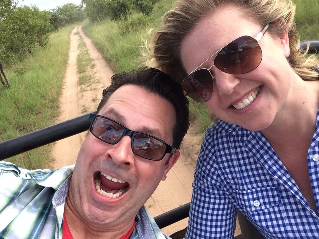 Dave and Belinda on a game drive