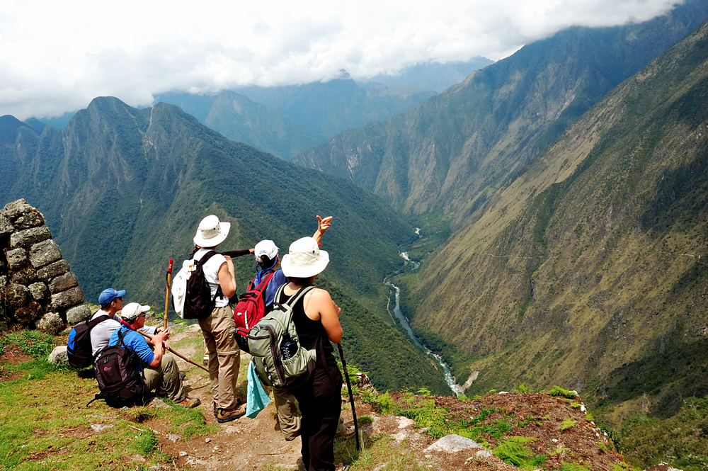 Guided stops on the Inca Trail