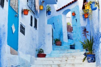 Beautiful blue medina, Chefchaouen, Morocco