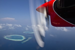 Flying in on a Maldivian Sea Plane is one incredible way to arrive