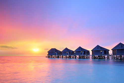 Maldives sunset_129221429