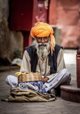 6. Street snake charmer India