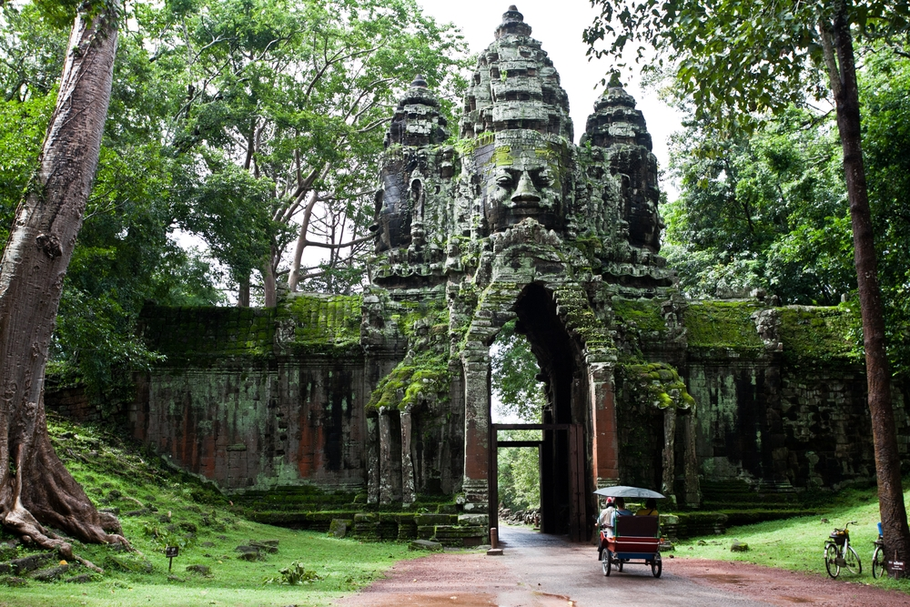 Exploring the temple complex of Angkor Wat