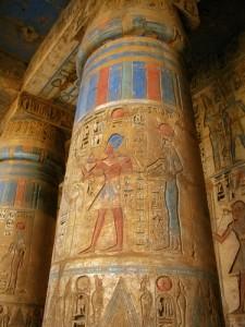 Carvings on Columns, Luxor, Egypt