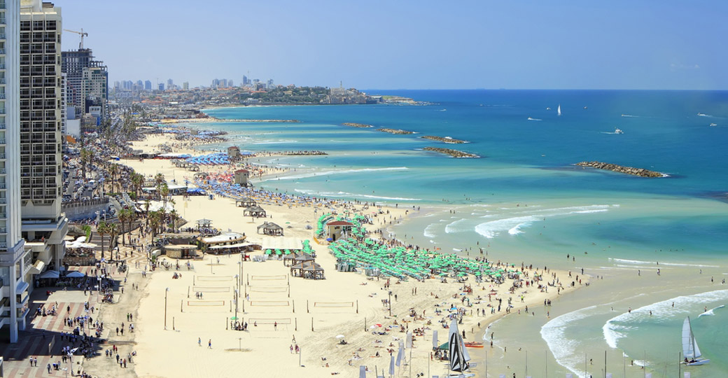 Tel Aviv Beach on the Mediterranean, Israel
