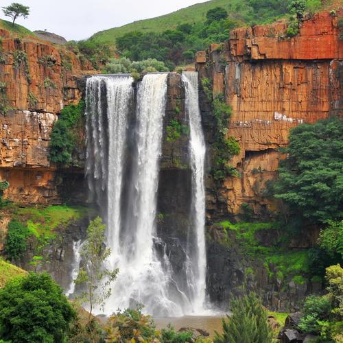A waterfall in Drakensberg Region