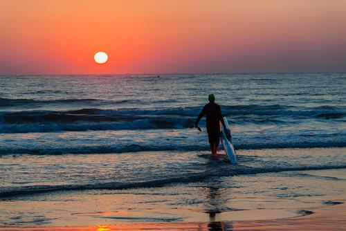 Durban Dawn Surfer