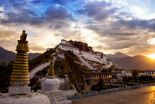 Potala Palace at dawn, Lhasa, Tibet