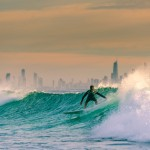 A Surfer in Surfers Paradise, Gold Coast
