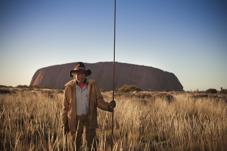 An Aboriginal guide at Uluru