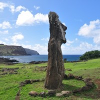 We cant decide if the Moai are lost, looking, or content.