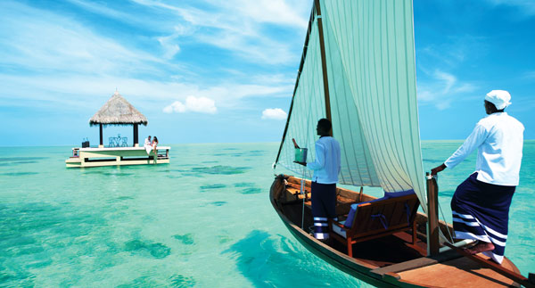 Private dining in the Maldives