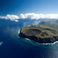 Seen from above, Rapa Nui has an interesting landscape even from afar