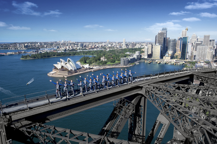 134 Metres above the road on the Sydney Harbour Bridge Climb