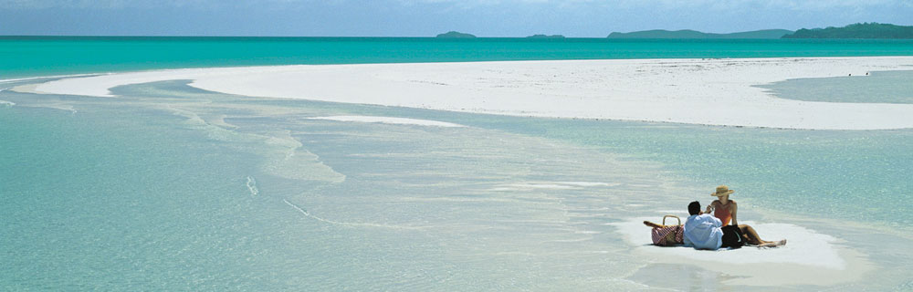 Picnic on Whitehaven Beach, Queensland, Australia