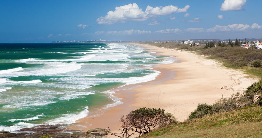 Caloundra beach from Point Cartwright on the Mooloolaba headland
