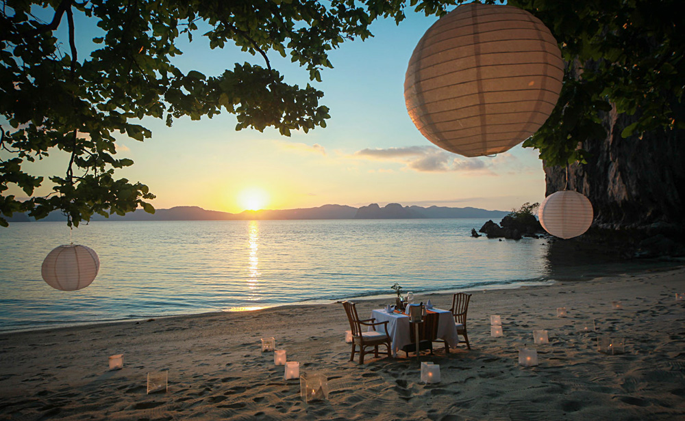 Enjoy a Private Romantic Dinner at El Nido Lagen Island Resort, Philippines