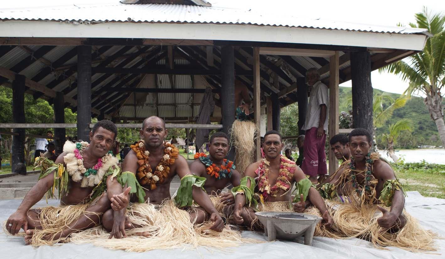 Smiling Fijian tribesman