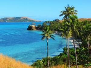FIJI BLUE Lagoon Nacula island, Yasawa Islands, Fiji