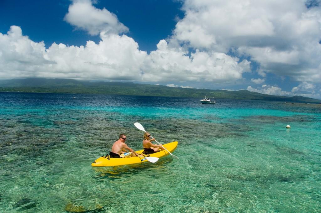 FIJI Kayaking at Qamea resort