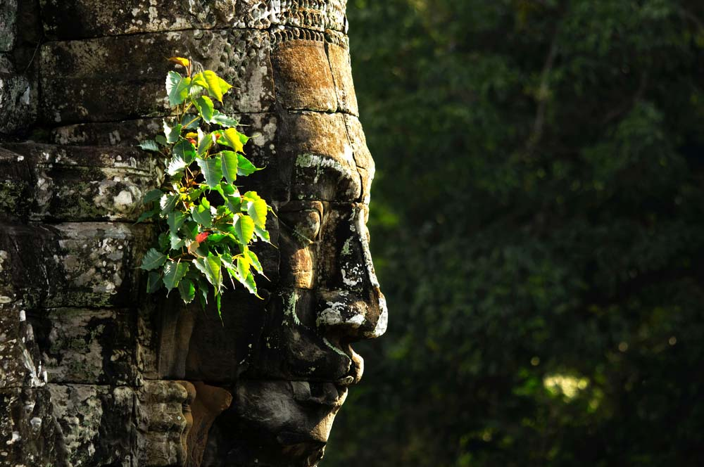 Face of Bayon at Angkor Wat