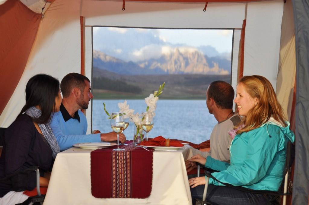 Peru Luxury Inca Trail LIT lunch tent