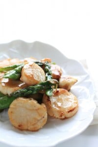 Recipe Scallops and Asparagus Asia_87896689