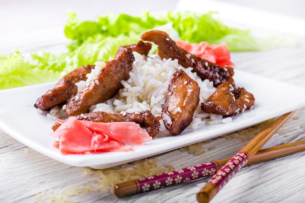 Chinese Honey Chicken with sesame