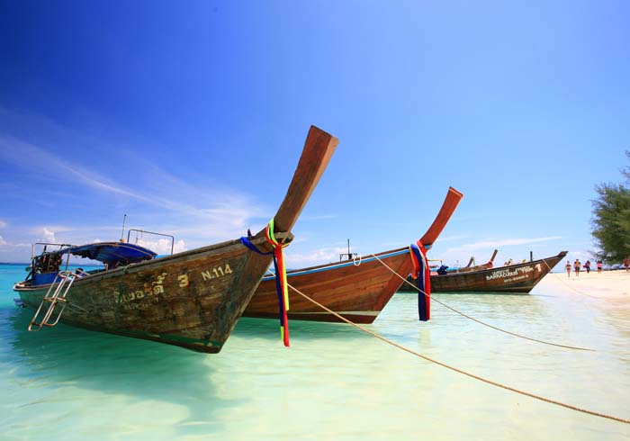 Beach boats in Asia