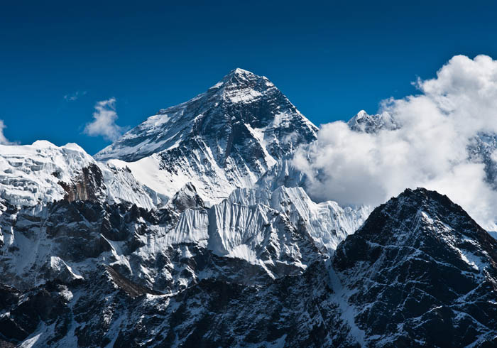 Mount Everest - the top of the world at 8848 m
