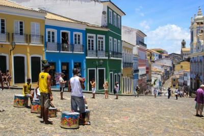 Cobbledstoned streets of Salvador