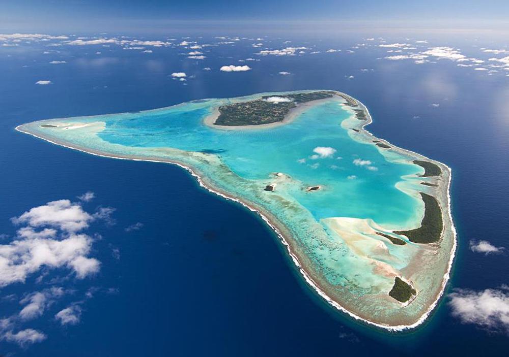 Aerial View of Aitutaki, Cook Islands