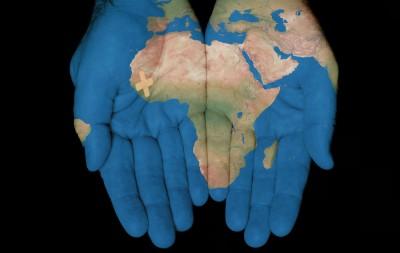 Africa Hands & Bandaid_110775812