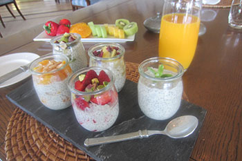 Chia Seed Pudding served at the Lodge at Kauri Cliffs