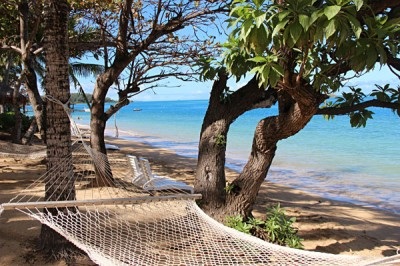 Enjoy a double hammock at Malolo Island Resort, Fiji