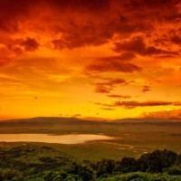 Ngorongoro Crater at sunset