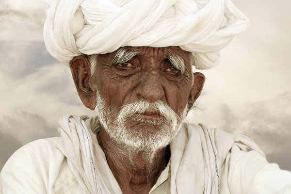 Old man in Rajasthan, India