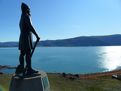 Statue of Erik the Red, found in his final home of Greenland
