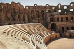 Amphitheatre in El Jem, Tunisia